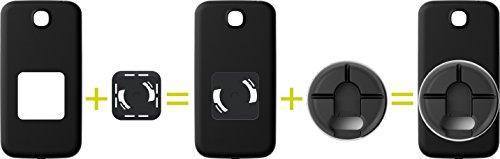 Gadget Smartwind® DUO CrossCover per iPhone 5/5S et SE - composto da bumper athos-c di colore nero con pregiato avvolgicavo per auricolari di colore bianco-nero con funzione stand. Ada