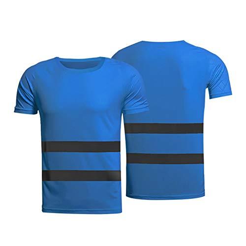 Smilikee Hallo Sichtbarkeit Poloshirt | High Visibility Reflective Tape | T-Shirt mit Rundhalsausschnitt | Arbeitskleidung Straßenbau Tshirt T-Shirt Top -