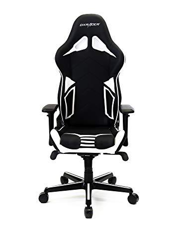 DXRacer Gaming Stuhl, OH/RV131/NW, R-Serie, schwarz-weiß