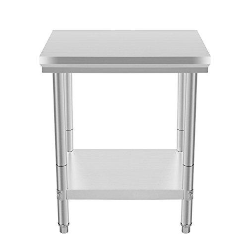 Anhon Gaststätte-Grad 2 x 2 FT-Edelstahl-Arbeits-Tabelle 24 x 24 Zoll für Handelsküchen-Vorbereitungs-Arbeits-Tabelle...
