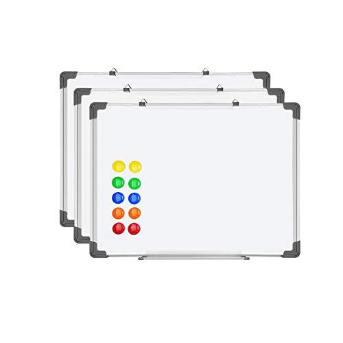 SIENOC Whiteboard Magnetwand mit Alurahmen Magnetisch Whiteboard und Magnettafel Weiß lackiert (3 Stück 60 * 45cm) ... -