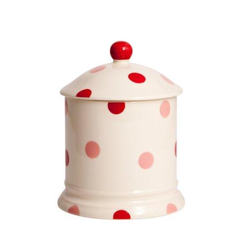 Red Spot pots en faïence-Set de couvercles &couvercle Rouge/crème