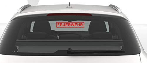 Dinger-Design Premium Feuerwehr Aufkleber Autoaufkleber Firefighter 30x6 cm ROT