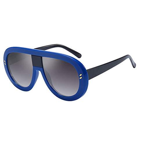 Modische Brillen für charmante Damen Mädchen Retro Sonnenbrille Bunte Kunststoffrahmen Tägliches Tragen(Blau,free)