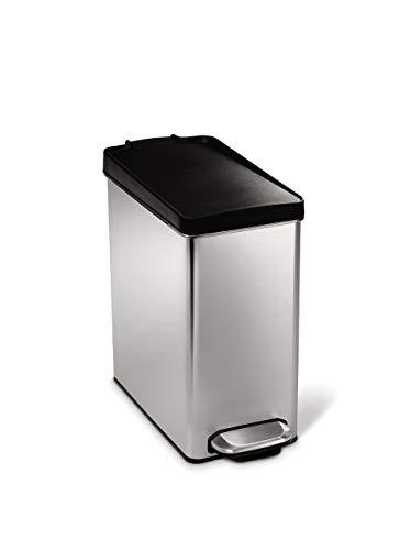 simplehuman Abfalleimer, Edelstahl, Silber, 10 Liter