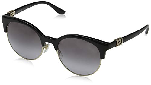 Versace Damen 0VE4326B GB1/11 53 Sonnenbrille, Schwarz (Black/Pale Gold/Greygradient),