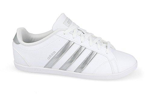 adidas Damen Vs Coneo QT Fitnessschuhe, Elfenbein (Ftwr Wht/Matte Silver/Ftwr Wht), 38 EU