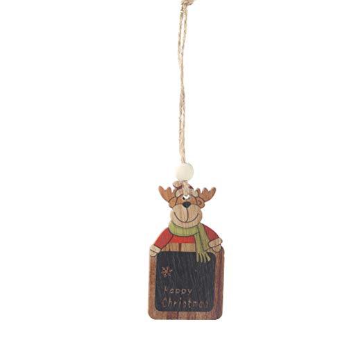 Amosfun 2 STÜCKE Frohe Weihnachten Holz Ornament Elch Weihnachtsbaum Hängende Verzierung Xmas Party Decor Supplies -