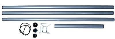 Mast set Stahlmast Zubehör Sonnenschutz Sonnensegel von SportFit auf Gartenmöbel von Du und Dein Garten