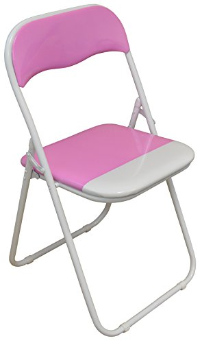 Best Price Harbour Housewares Pink White Padded Folding Desk Chair Ni