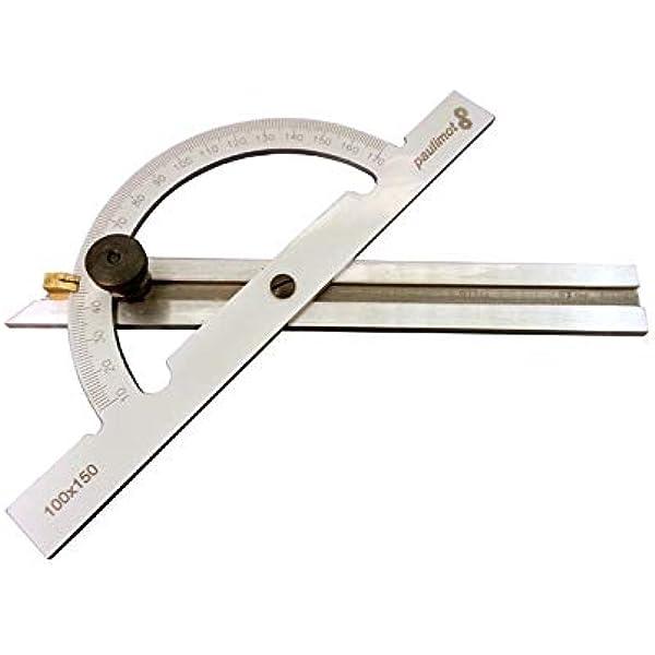 Paulimot Winkelmesser Gradmesser Mit Verstellbarer Schiene 150 X 300 Mm Amazon De Baumarkt
