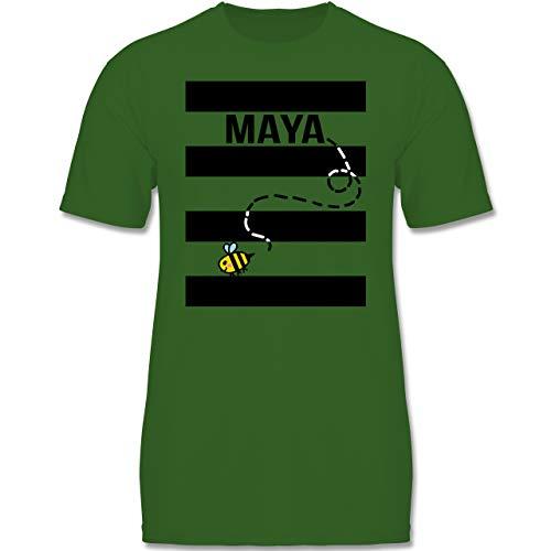 (Karneval & Fasching Kinder - Bienen Kostüm Maja - 152-164 (12-14 Jahre) - Grün - F140K - Jungen T-Shirt)