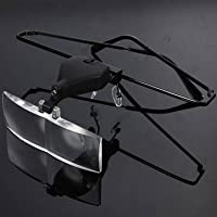 [Spedizione gratuita 7~12 giorni] 1.5x 2.5x 3.5x sostenere occhiali LED lampada ingrandimento d'ingrandimento lent // 1.5X 2.5X 3.5X Supporting Glasses LED Lamp Magnifier with Screwdriver