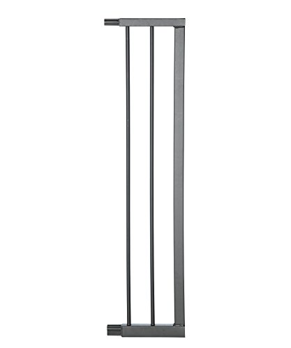 Geuther - 0091VS + in schwarz, Verlängerung für Treppenschutzgitter Easylock Plus, 16 cm