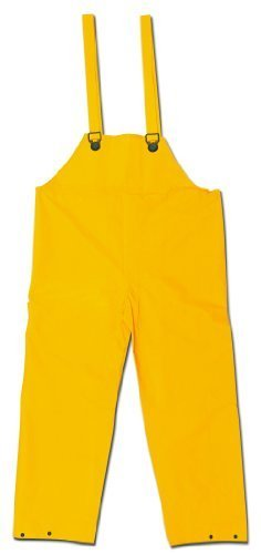 MCR Safety 200BFX2 Classic PVC/Polyester Bib Pants with Plain Front, Yellow, 2X-Large by MCR Safety (Front Pant Polyester Plain)