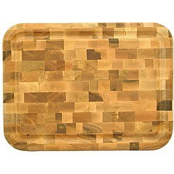 Reversible End Grain Block Cutting Board, Yellow Birch by End Grain Block - Professional Butcher Knife