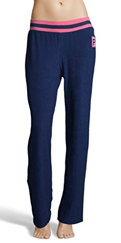 U.S. Polo Assn. Women's Super Soft Casual French Terry Lounge Pajama Sleep Pant Evening Blue Small (Lounge French Pant Terry)