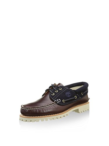 Timberland Herren Authntic 3 Eye Fl Br Light Segelschuhe Schwarz / Braun