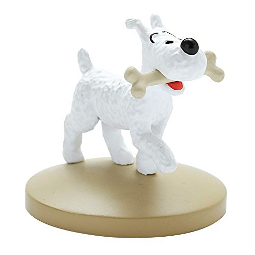 Moulinsart 42222 Figurine de collection Tintin Milou avec son os (2018)