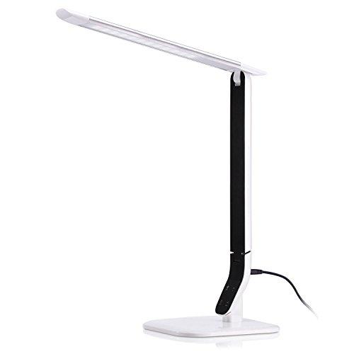 Lámpara Escritorio LED, AVAWAY 10W Lámpara de Mesa Plegable, 5 Niveles de Intensidad & 3 Modos de Iluminación, Control Táctil Lámpara de Lectura para Oficina, Trabajo, Estudio