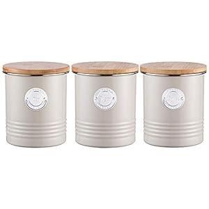 Typhoon Living Mastic en acier Lot de thé/café Pot à sucre Boîte à Boîte métallique