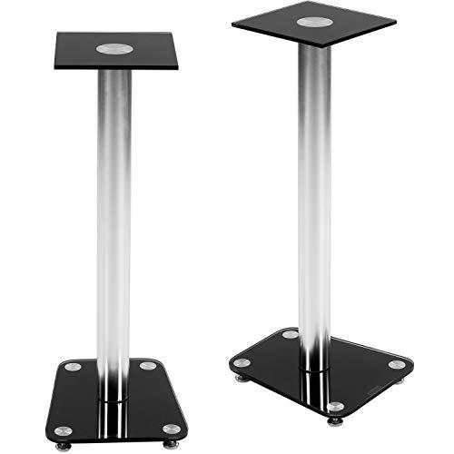 STILISTA 2er Set Lautsprecher Boxen Ständer Varianten: Klarglas und Schwarzglas Integrierter...