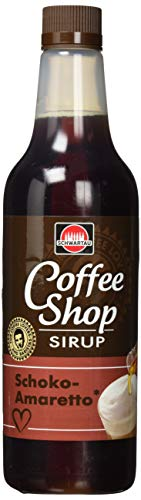 Schwartau Coffee Shop Schoko-Amaretto, Kaffeesirup, 6er Pack (6 x 650 ml), 3900 ml