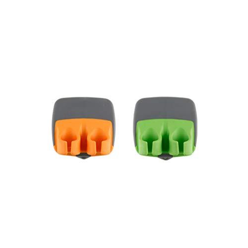 BESTONZON 2pcs Palm Peeler Schäler Sparschäler kreativer Gemüseschäler Küchenhelfer für 2 Finger (Grün Orange) (Zwei-finger-doppel-ringe)
