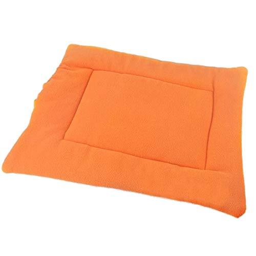 5 Farben Weiche Haustier Kissen Warme Hundedecke Welpenhäuser For Katzen Schlafmatte Haustierbett For Kleine Mittelgroße Hunde Cama Perro (Color : Orange, Size : 50x42cm) 50 Cam