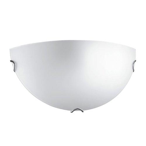 Applique Oblo satinata bianca Cm 30xH 15 Lampada 1xE27 da 60W
