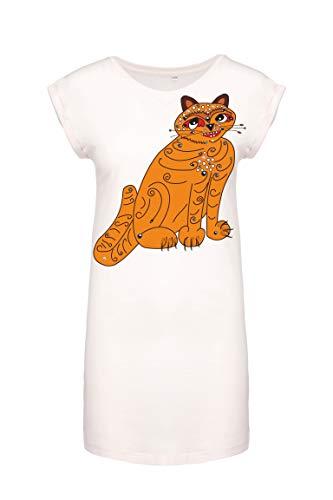 Orange Cat (As Worn by Anni-Frid Lyngstad) Women's Long T-Shirt.