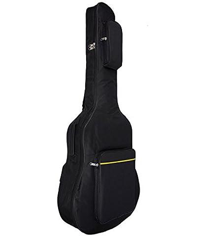 Liying Gitarre Tasche Gitarrentasche für 41 Zoll Akustik Konzertgitarre Klassikgitarren Wasserdichte 600D Oxford-Gewebe Backpack Schultasche Doppelt Genähte Gepolsterte Gurte Gig Tasche Tragetasche