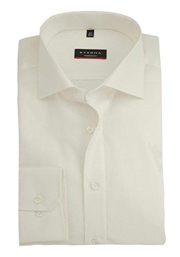 eterna Langarm Hemd Modern Fit Popeline Unifarben Offwhite ...