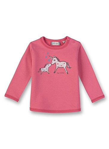 Sanetta Baby-Mädchen Sweatshirt, Rosa (Lotus Rose 3224.0), 74
