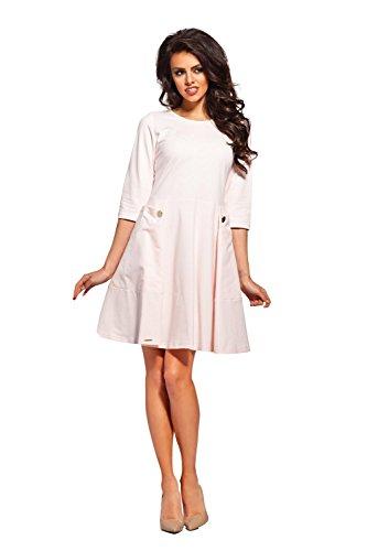 AmazingGirl Neu Super Luxus Kleid Abendkleid Partykleid Elegant MidiKleid Sportkleider Puderrosa
