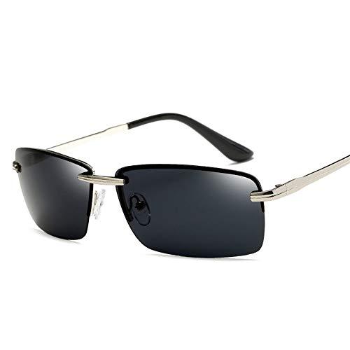 WDDYYBF Sonnenbrillen, Männer Sonnenbrille Sonnenbrille Fahren Männer Classic Low Profile Sonnenbrillen Für Männer Im Freien Uv400 Silber Grau