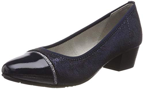 Jana 100% comfort Damen 8-8-22300-22 Pumps, Blau (Navy Glitter 898), 38 EU Damen Schuhe Glitter