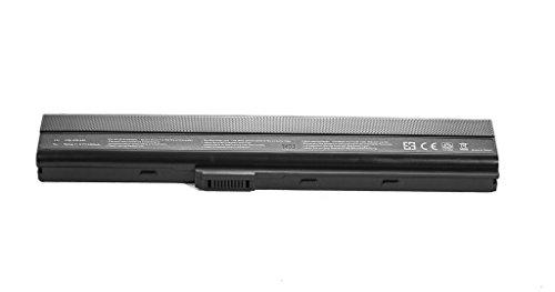 Justcell OEM Ersatzakku K52 für Asus Notoebook Laptop Akku, ersetzt Akkutypen: Asus A31-K52 / A32-K52 / A41-K52 / A42-K52 / A32-N82 / A42-N82 / A42-B53, 11,1v oder 10,8v/ 5200mAh Replacement Batterie -