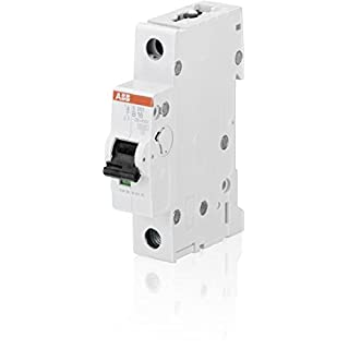 ABB 2CDS251001R1165 System Pro M Compact Miniature Circuit Breaker, Single Pole, Type B, 16 A Rated Current, 88 mm H x 17.5 mm W x 69 mm D
