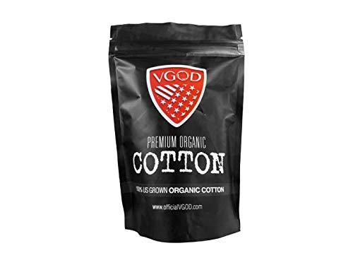 Apple Cotton Cap (Vgod Premium Organic Cotton Watte Wick N' Vape für Selbstwickelverdampfer 100% ORGANIC Premium Bio-Baumwolle)