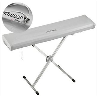 Soundwear Elastische Keyboard Abdeckhaube, 61 Tasten, 85 - 102 cm, silber