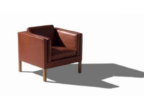 Sessel / Børge Mogensen / Fredericia Furniture / Leder schwarz, Beine Eiche schwarz lackiert / DesingKlassiker von Klingenberg