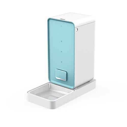DPPD Katze Automatisches Timing Frischfutter Futterautomat für Haustiere Futterbehälter für Hunde Futterautomat für Katzen Hunde- und Katzenzubehör (Farbe: Blau, Größe: ABS) -