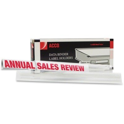ACCO 50120 Self-adhesive label holders for data binders, 6x1/2, clear, 10 per box by ACCO Brands