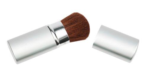 Fantasia - 3312 - Pinceau à maquillage rétractable dans son étui en métal - poils de chèvre - 10,5 cm - argent