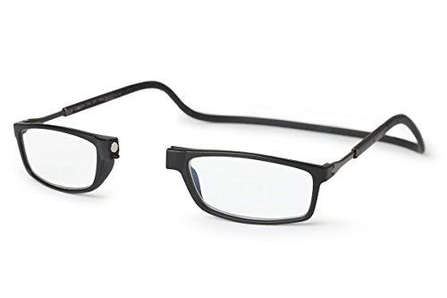 Neu Slastik Magnetisch Clic Stil Lesebrille Rahmen Doku 007 mit weichem Behälter, Verstellbare Bügel & Antireflektierende Brillengläser Dtr +3.5
