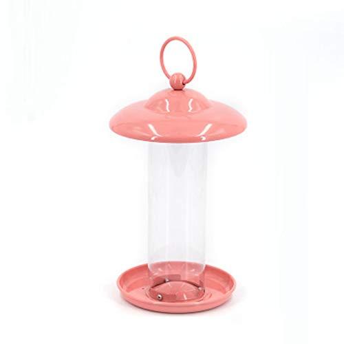 YQCSLS Outdoor Bird Feeder Balkon Feeder Garden Bird Feeder - Easy Fill, regenfestes Dach Geschenkdekoration -