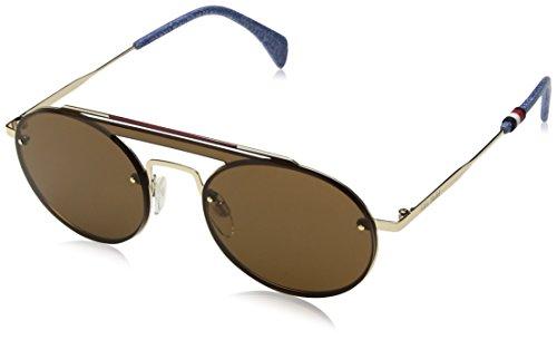 Tommy hilfiger th gigi hadid3 70 j5g 99 occhiali da sole, oro (gold/bw black brown), donna