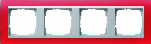 Preisvergleich Produktbild Gira 021492 Abdeckrahmen 4 fach für alu Event Opak,  rot