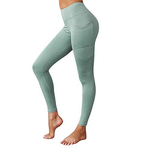 Frauherzz Damen Jogginghose, Damen Sportgamaschen Feste Yogahosen für Damen mit Tasche Trainingshose Lässige Damenhose Fitness Running Hose
